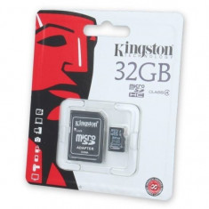 Card memorie Kingston micro SD + Adaptor 32 GB