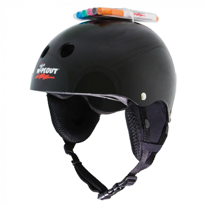Casca Triple 8 Wipeout Snow Black