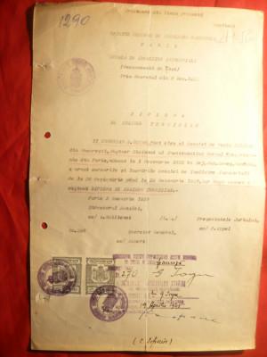 Diploma Inginer Termician -Sc.Incalzire Ind. Paris 1922 recunoscuta 1945 Romania foto