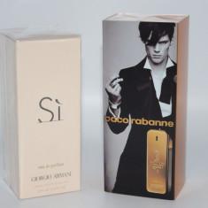 Set 2 parfumuri dama + barbat Paco Rabanne + Giorgio Armani - Parfum femeie Paco Rabanne, Apa de parfum, 100 ml