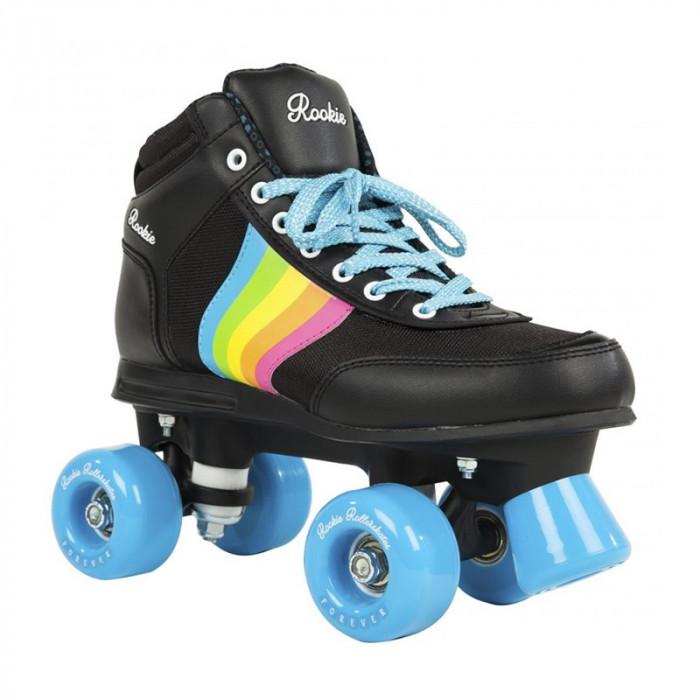 Patine cu rotile Rookie Forever Rainbow Black