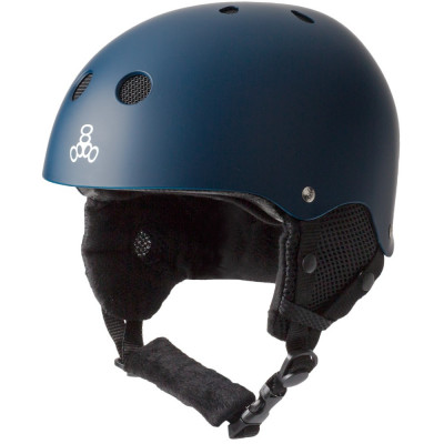 Casca Triple 8 Brainsaver Snow Standard Navy Rubber foto