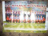 Poster - Steaua Bucuresti -2007-2008 , dim. = 67x48 cm ,color ,cu calendar