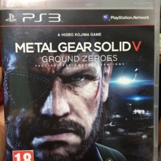 Metal Gear Solid V Ground Zeroes PS3 Play Station - Jocuri PS3, Actiune, 18+, Single player