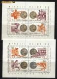Romania 1992 - MEDALII OLIMPICE BARCELONA, 2 BLOCURI DE 4 MNH X2, Nestampilat