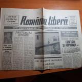 ziarul romania libera 1 septembrie 1990-prima vizita in stainatate a lui iliescu