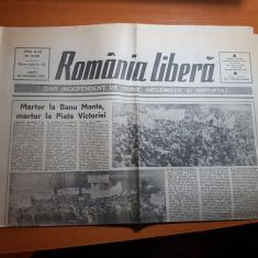 Romania libera 1 februarie 1990-manifestatii la banu manta si piata victoriei - Ziar