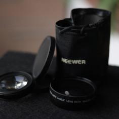 Lentila Neewer wide si macro pentru Canon de 58 mm, cu husa Japan DSLR - Adaptor aparat foto