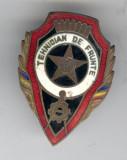 TEHNICIAN  de FRUNTE - Insigna Militara 1955 -  Republica Populara Romana