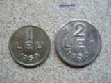 ROMANIA - Set  1 LEU 1950  + 2 LEI 195O, RPR , L 2.38