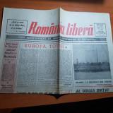 """Ziarul romania libera 12 septembrie 1990-art. """"europa,totusi"""" de octavian paler"""