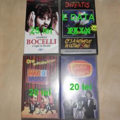 Caseta video Andrea Bocelli,Popeasca si Banica,Nae si Vasile Muraru pret pe poza