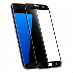Folie de sticla 3D neagra compatibila cu Samsung Galaxy S7 Edge ( BLACK ) - Folie de protectie Samsung, Anti zgariere