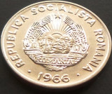Moneda 15 Bani - ROMANIA, anul 1966 *cod 3413 --- UNC DIN SACULET BNR!