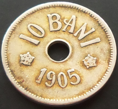 Moneda 10 Bani - ROMÂNIA, anul 1905 *cod 5052 foto