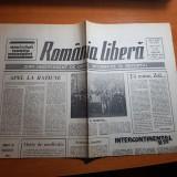 ziarul romania libera 21 martie 1990-art. valea jiului nu crede in lacrimi