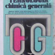 Tehnologia Chimica Generala Manual Pentru Licee Industriale - E. Pincovschi, P. Balta, F. Maria R. Avram, 409835 - Carte Chimie