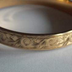 Bratara vintage aur de 9k cu interior din metal