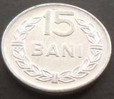 Moneda 15 Bani - RS ROMANIA, anul 1975  *cod 4955 ---  UNC, Aluminiu