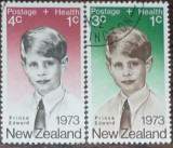 NEW ZEALAND - PRINTUL EDWARD. 2 TIMBRE STAMPILATE, AC2