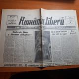 ziarul romania libera 8 februarie 1990-conducatori noi cu vechi naravuri