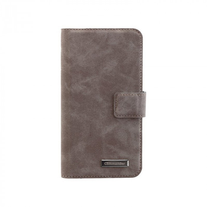 Bookstyle Case pentru Samsung Galaxy S7 Culoare Gri foto mare