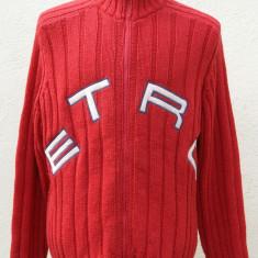 Jerseu cardigan ETRO original marimea XL - Pulover barbati, Culoare: Rosu