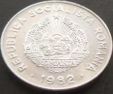 Moneda 25 Bani  - RS ROMANIA, anul 1982 *cod 4511 --- A.UNC, Aluminiu
