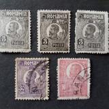 Lot Ferdinand-uzuale 1920-1922 HARTIE CU SCAME (RAR!), Stampilat