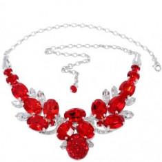 Yvette Necklace cu cristale swarovski rosii - Colier Swarovski
