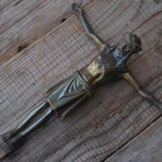 CRUCIFIX VECHI CONFECȚIONAT DIN ANTIMONIU - ISUS HRISTOS!
