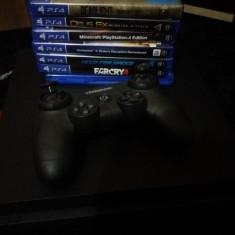 Vand Ps4 slim 500gb+7 jocuri+garantie - Consola PlayStation