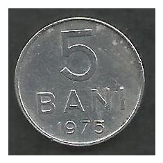 ROMANIA RSR 5 BANI 1975 [6] livrare in cartonas - Moneda Romania, Aluminiu