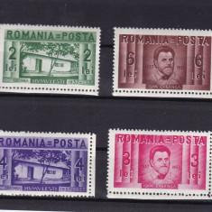ROMANIA 1937 LP 118 CENTENARUL NASTERII LUI ION CREANGA SERIE MNH - Timbre Romania, Nestampilat