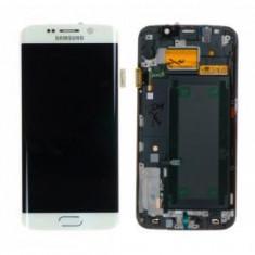 Display Samsung S6 Edge G925 alb touchscreen lcd rama