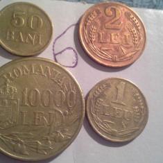 50 BANI, 1 LEU, 2, 10000 LEI 1947/6 SUPERBE+CADOU 100 LEI REGE MIHAI - Moneda Romania