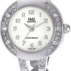 Ceas Dama Elegant Q&Q GT63-204Y Argintiu