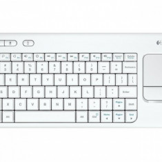 TASTATURA WIRELESS Logitech K400 Plus - INTNL - US International layout - alb