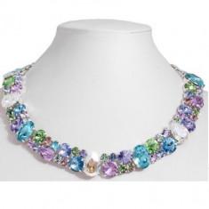 Maren Necklace cu cristale swarovski colorate - Colier Swarovski