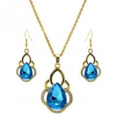 Set bijuterii cristale bleu