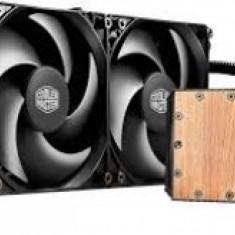 Cooler COOLER Master CPU cu lichid, universal, Seidon 240V, universal, soc. LGA 2011(3)/1366/115x/775/FMx/AMx, radiator 273x27 mm, 2x Silencio FP... - Cooler PC