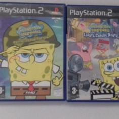 LOT 2 jocuri: Spongebob Squarepants - PS2 [Second hand] - Jocuri PS2, Actiune, Toate varstele, Single player