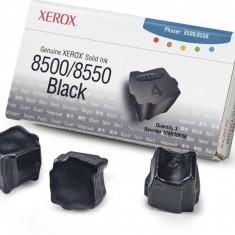 Cartus cerneala Original Xerox Negru, compatibil Phaser 8500/8550, 3 sticks, 3000pag
