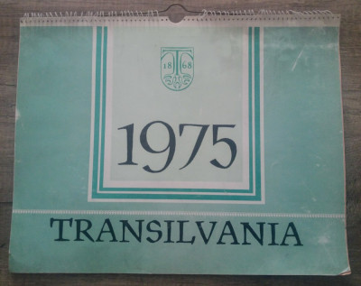 Calendar de perete 1975/ gravuri Transilvania foto