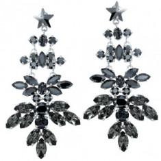 Cercei cu cristale swarovski Shiva 7, 1 cm - Cercei Swarovski