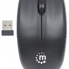 MOUSE WIRELESS Manhattan optic, Achievement, 2.4G, USB, 1000 dpi, Black, Blister