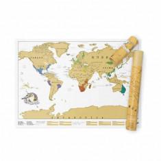Scratch Map Harta pentru calatorii razuibila