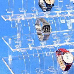 Suport expunere ceasuri 18 spatii acril transparent