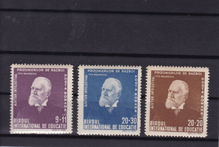 ROMANIA 1942  LP 147  TITU  MAIORESCU  SERIE   MNH