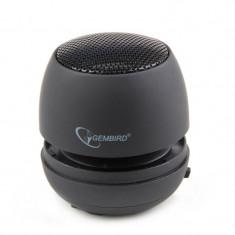 BOXE portabile Gembird, RMS: 2W, black, baterie 400mAh,